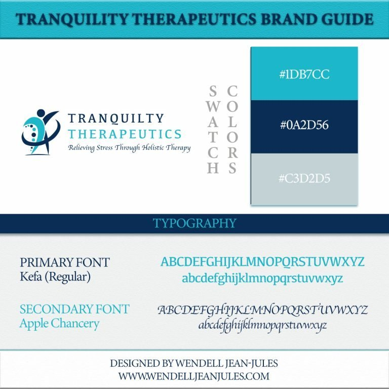 Tranquility Therapeutics Brand Guide