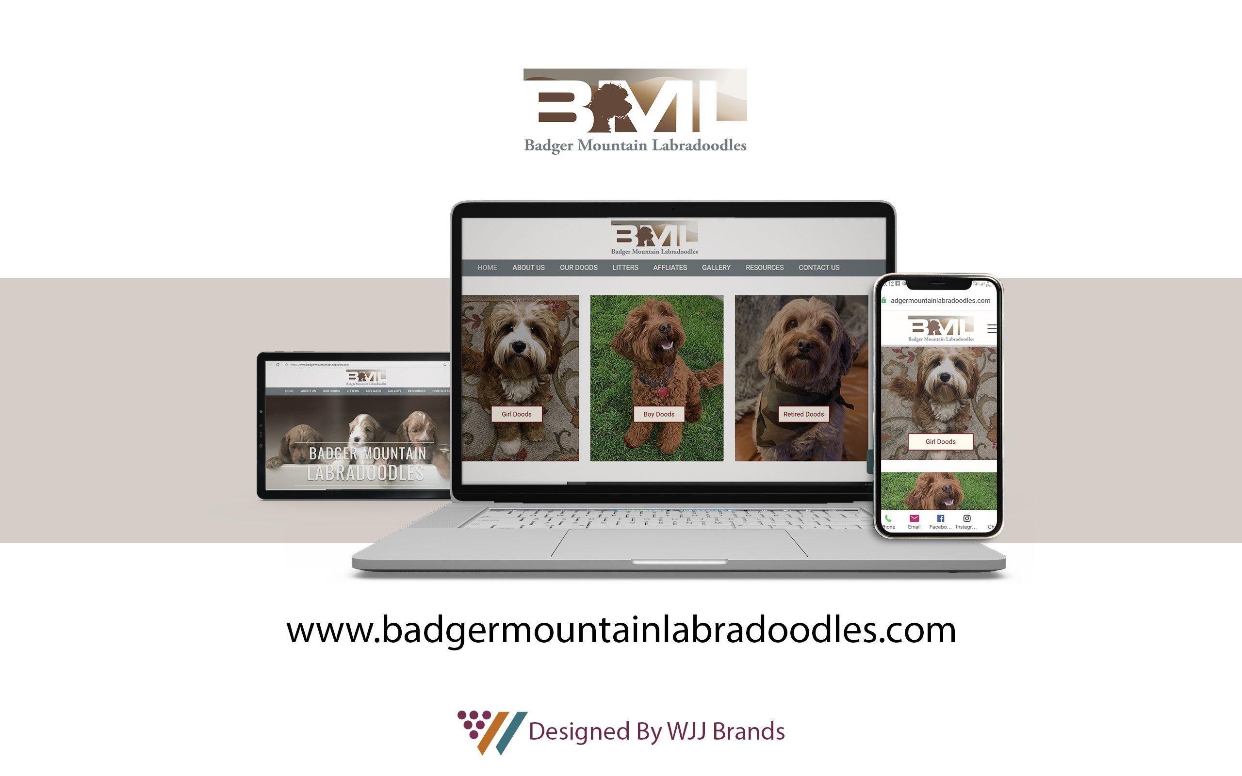 badgermountainlabradoodles web mockup